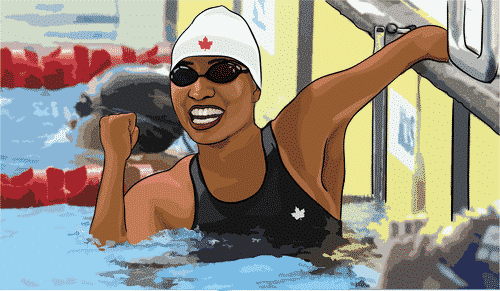 Katarina Roxon was selected as one of the top athletes and sports stars born with Amniotic Band Syndrome.